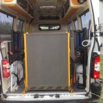 Interior View - 2007 and 2008 Renault Master PTS.  Choice of 4. Complete with stretcher.  Some with blue lights. Full battenberg kit can be supplied and fitted (at extra cost). Price from £5000 + VAT